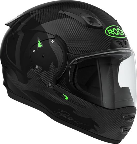 Roof RO200 Carbon - Panther Black Fluo Green