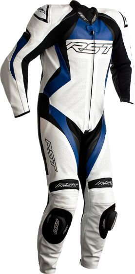 RST Tractech Evo 4 One-Piece Suit - White/Blue