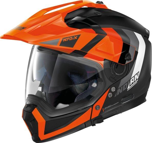 Nolan N70-2 X - Decurio Flat Black/Orange 031