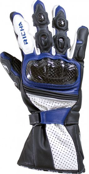 Richa Ravine Leather Gloves - Black/Blue