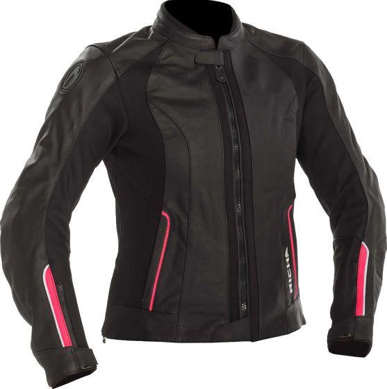 Richa Nikki Ladies Leather Jacket - Black/Pink