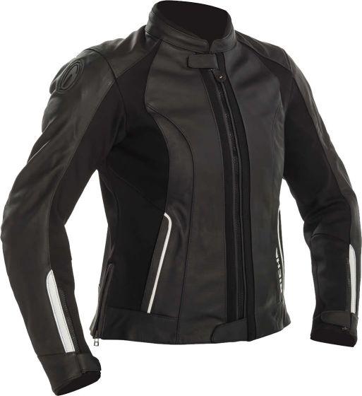 Richa Nikki Ladies Leather Jacket - Black/White