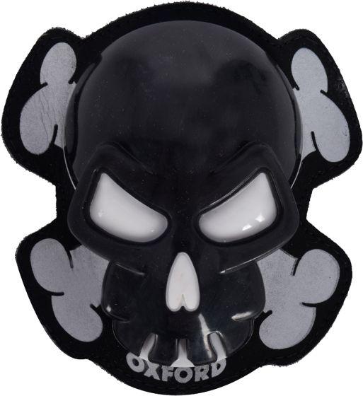 Oxford Knee Sliders - Skull Black