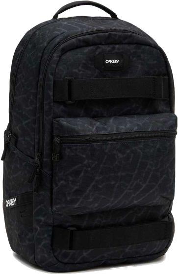 Oakley Street Skate Backpack - Black Glass Print
