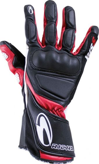 Richa WSS Leather Gloves - Black/Red