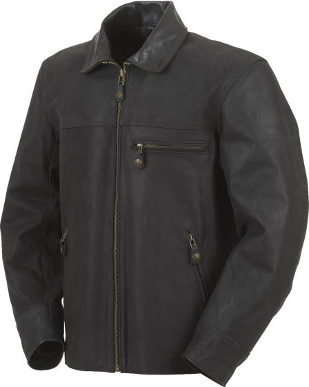 Furygan New Texas Leather Jacket - Black
