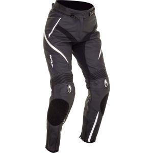 Richa Nikki Ladies Leather Trousers - Black/White