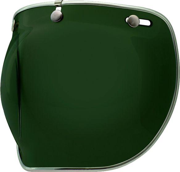 Bell Visor - Custom 500 - Deluxe 3 Snap Bubble - Wayfarer Green