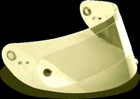 Bell Visor - RS-1/Qualifier - Race - Hi-Def - Yellow