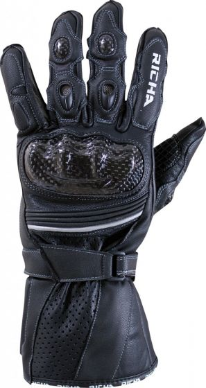Richa Ravine Leather Gloves - Black