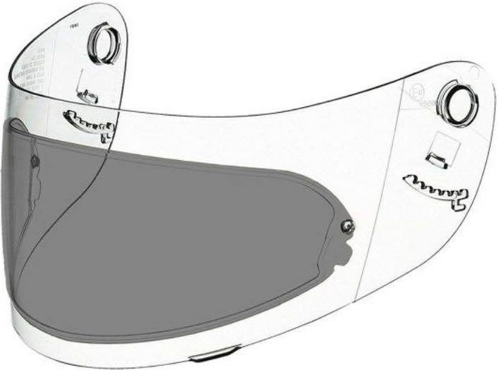 Shoei Pinlock Insert - CX1/CX1-V - Dark Smoke
