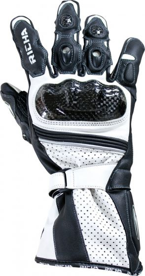 Richa Ravine Leather Gloves - Black/White
