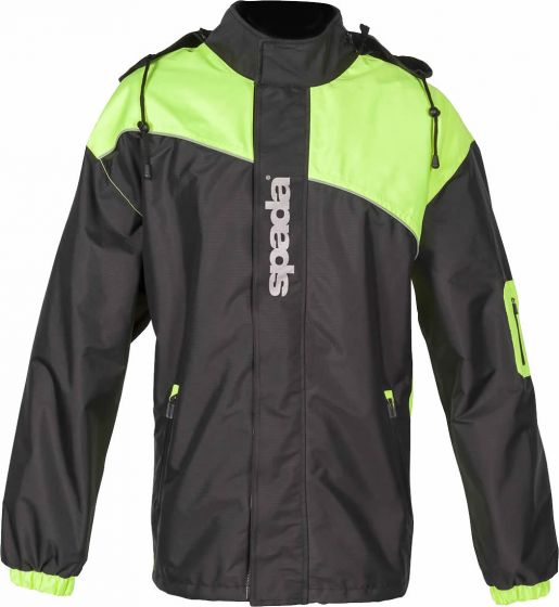 Spada Aqua Unlined Unisex Jacket - Black/Fluo Yellow