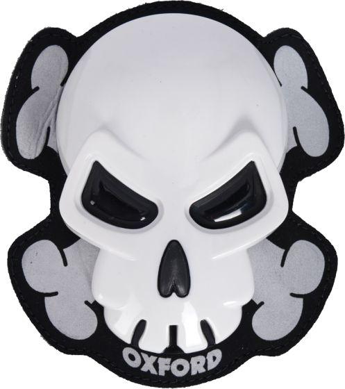 Oxford Skull Knee Sliders - White
