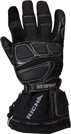 Richa Carbon Winter WP Gloves - Black