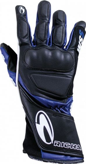 Richa WSS Leather Gloves - Black/Blue