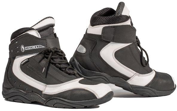 Richa Slick WP Boots - Black/White