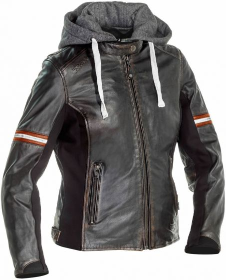 Richa Toulon 2 Ladies Leather Jacket - Black/Orange