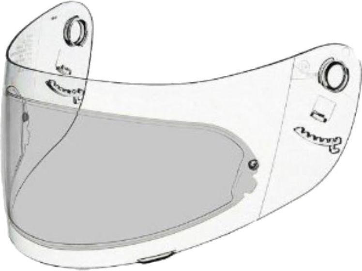 Shoei Pinlock Insert - CX1/CX1-V - Light Smoke