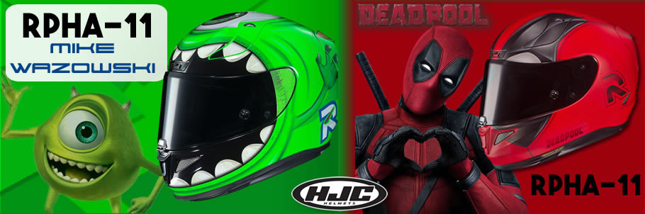HJC RPHA-11 Mike Wazowski and Deadpool 2
