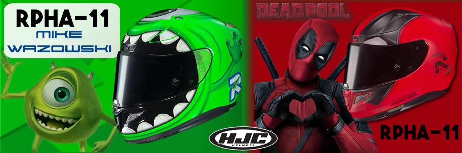 HJC RPHA-11 Mike Wazowski and Deadpool 2