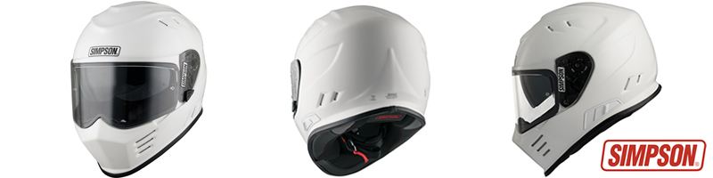 Simpson Motorcycle Helmets now in stock