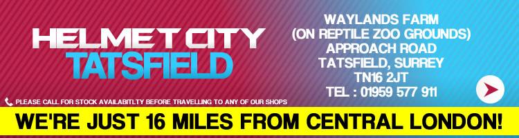 Helmet City Tatsfield, 01959 577911, CLICK FOR MORE INFO
