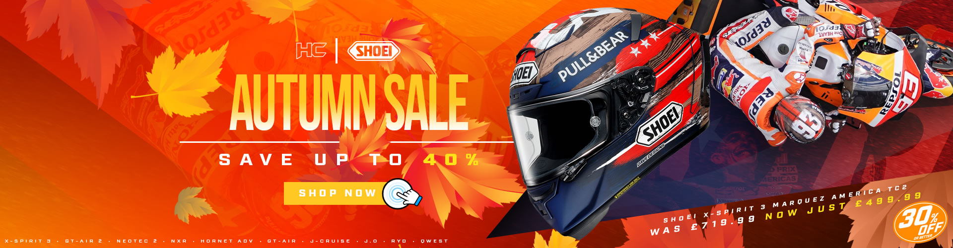 Shoei Autumn Sale at Helmet City