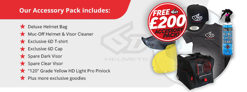 6D Helmets Free Accessory Pack worth £200